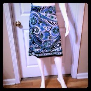 Midi skirt size large paisley